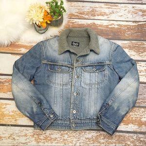 🎇 Dolce & Gabbana Distressed Denim Jacket   SZ XL